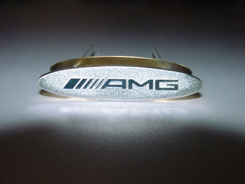 Oem mercedes benz amg backrest badge emblem ebay for Mercedes benz amg emblem